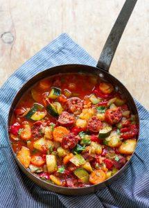Best Ever Chorizo & Vegetable Stew