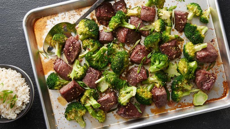 Sheet-Pan Sesame Beef and Broccoli