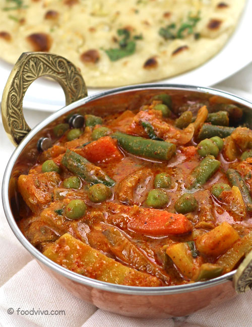 Veg Kolhapuri Recipe - Spicy Authetic Maharashtrian Curry with Mixed Vegetables