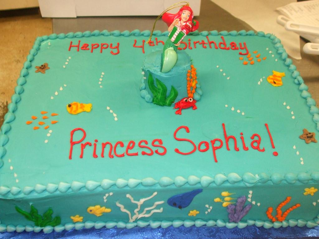 1/2 Sheet Cake  Mermaid Birthday Cake