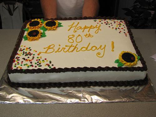 1/2 Sheet Cake  80th Birthday 1 2 Sheet Cake Portia