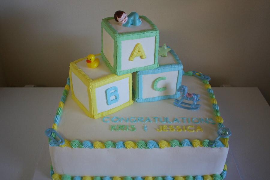 1/2 Sheet Cake  Baby Block Cake CakeCentral
