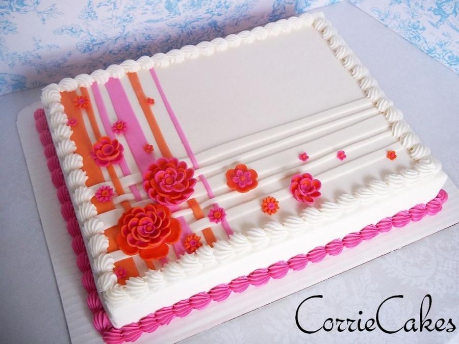 1/2 Sheet Cake  Wedding Sheet Cake CakeCentral
