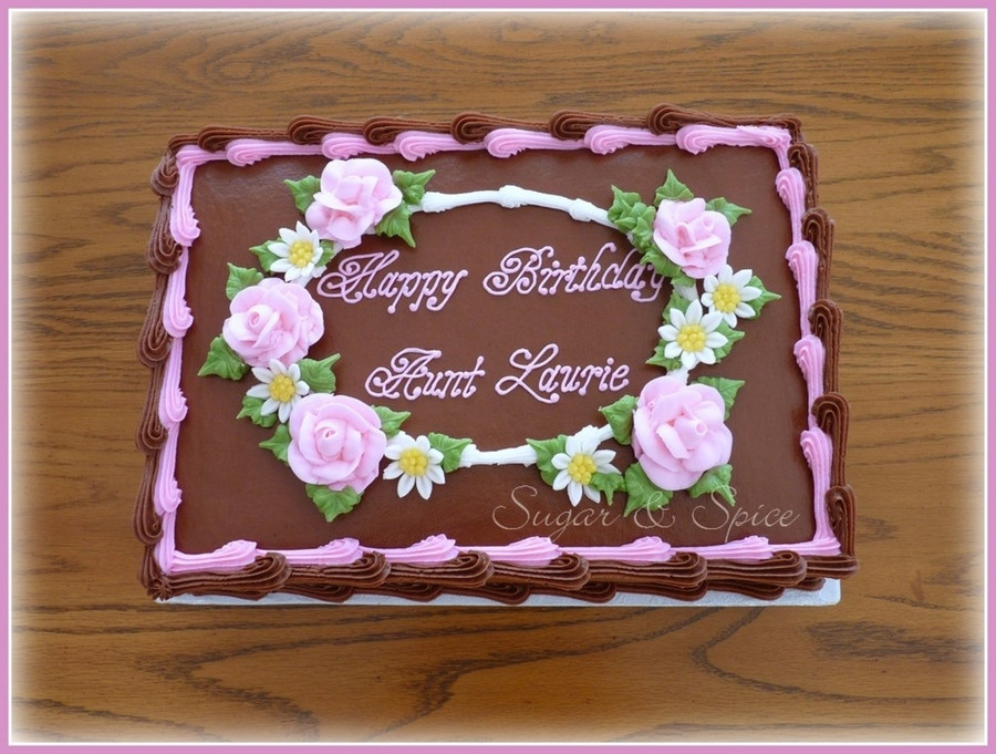 1/2 Sheet Cake  Chocolate Floral Sheet Cake CakeCentral