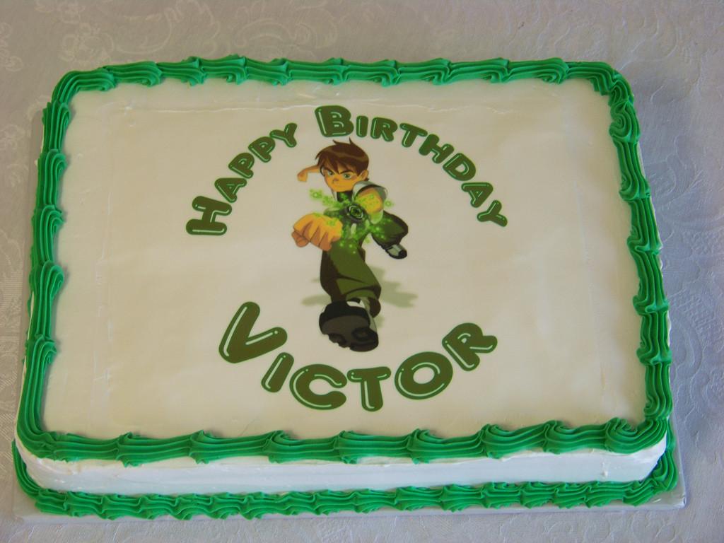 1/2 Sheet Cake  Ben 10 Birthday Cake II