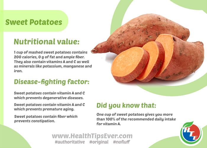 1 Potato Calories  Sweet Potato Nutritional Value – Health Tips Ever Magazine