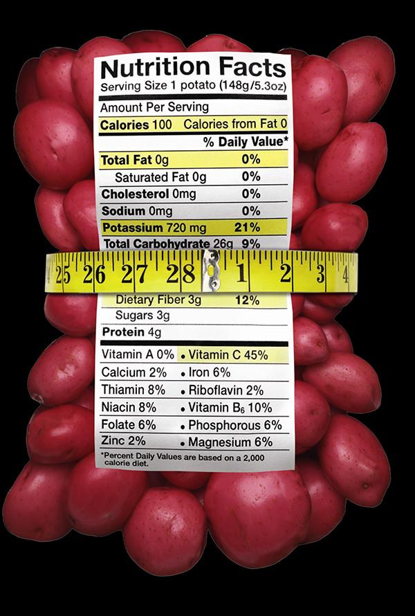 1 Potato Calories  Naturally Healthy Nutrition Wallace FarmsWallace Farms