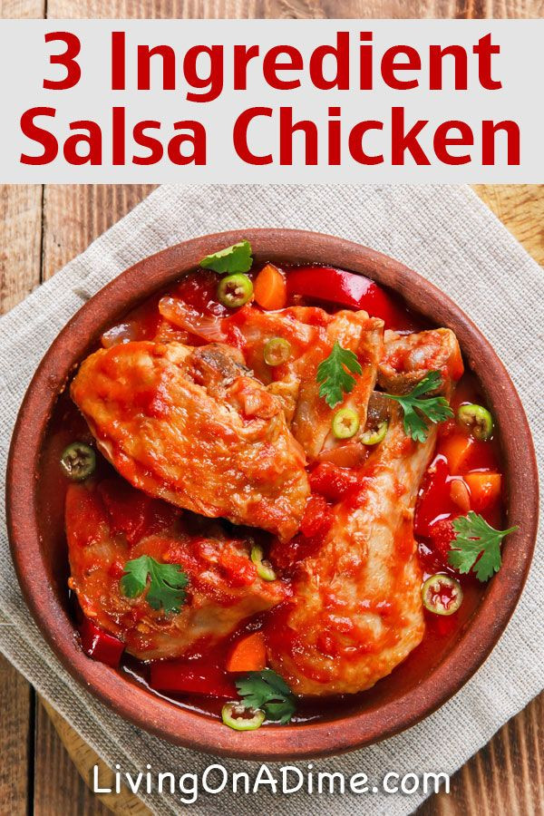3 Ingredient Dinners  Easy 3 Ingre nt Salsa Chicken Recipe – Easy 3 Ingre nt