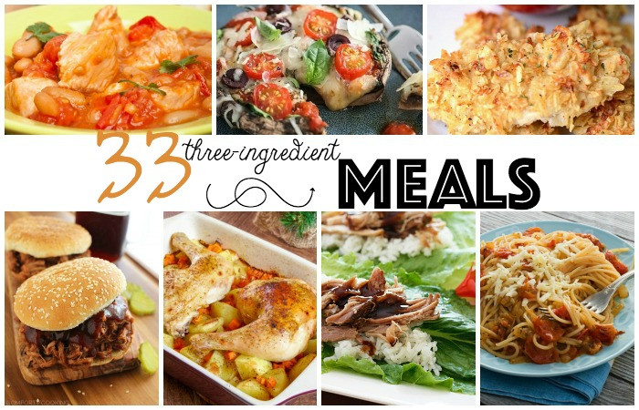 3 Ingredient Dinners  33 3 Ingre nt Meals
