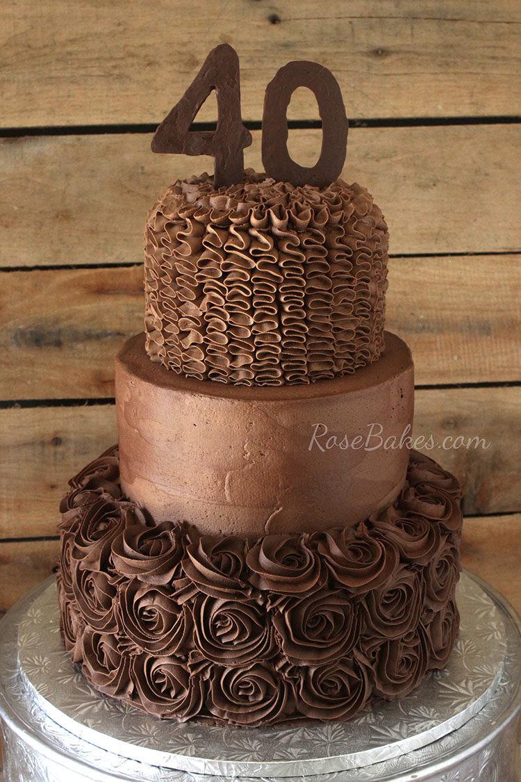 40Th Birthday Cake  A Chocolate Chocolate 40th Birthday Cake Rose Bakes
