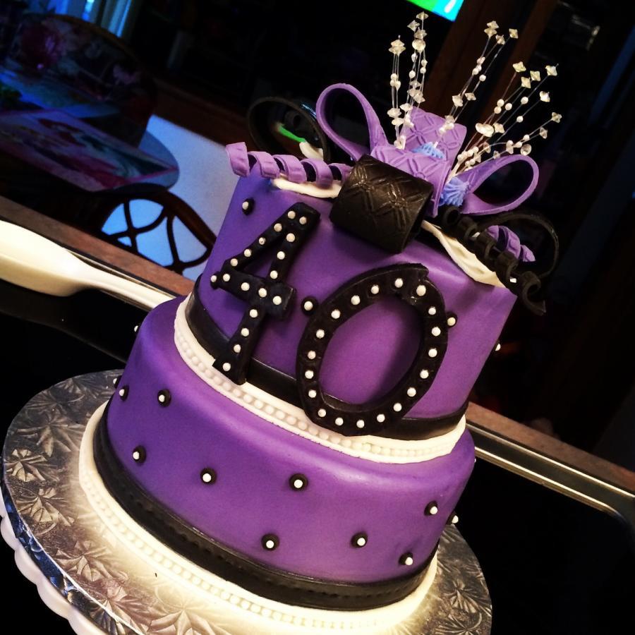 40Th Birthday Cake  40th birthday cake cake by Nicolle Casanova CakesDecor