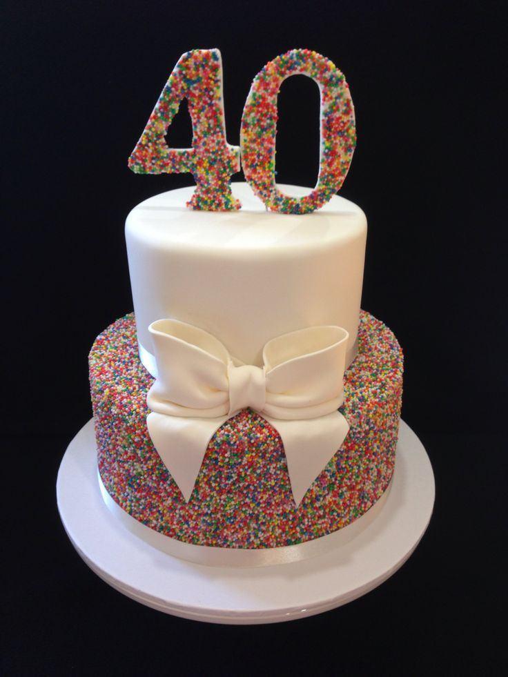 40Th Birthday Cake  40th Birthday Cake Ideas Female A Birthday Cake