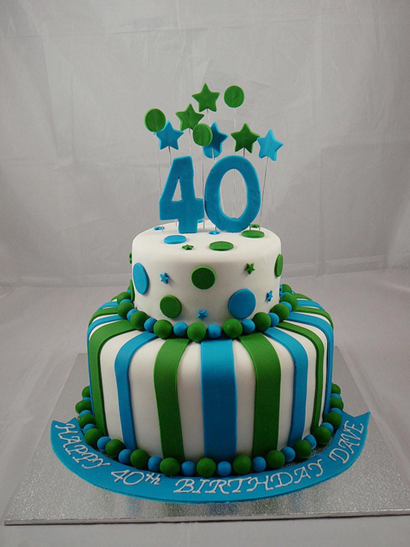 40Th Birthday Cake  40th Birthday Cake For Men Birthday Cake Cake