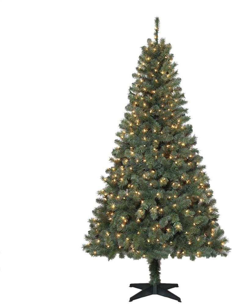 6.5 Ft. Verde Spruce Artificial Christmas Tree With 400 Clear Lights, Greens  6 5 ft Artificial Christmas Tree Prelit Clear Lights Green