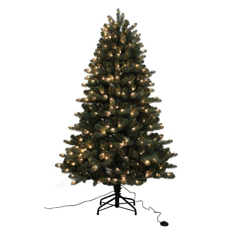 6.5 Ft. Verde Spruce Artificial Christmas Tree With 400 Clear Lights, Greens  6 5 ft Blue Spruce Elegant Twinkle Quick Set Artificial