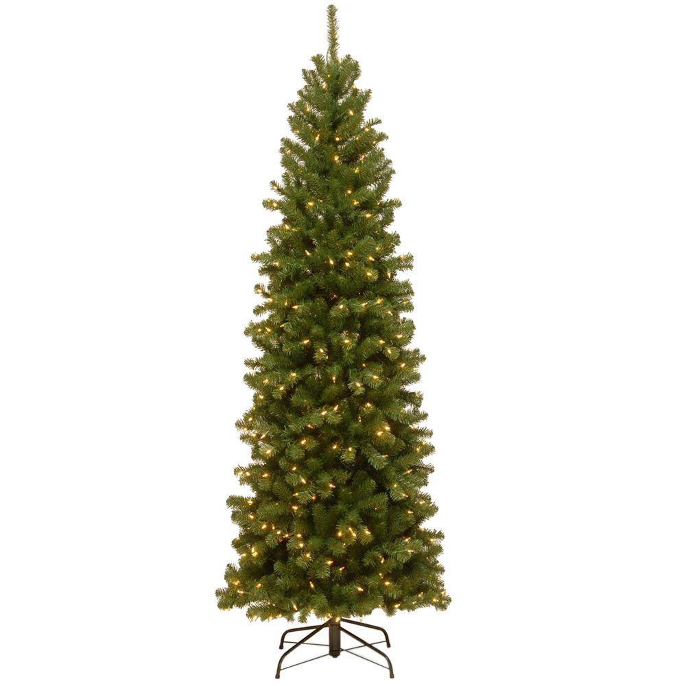 6.5 Ft. Verde Spruce Artificial Christmas Tree With 400 Clear Lights, Greens  Home Accents Holiday 6 5 ft Greenland Potted Artificial
