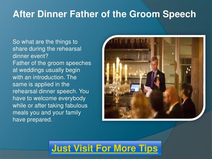 After Dinner Speech  After dinner father of the groom wedding speech