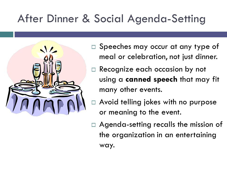 After Dinner Speech  A SPEAKER'S GUIDEBOOK 4TH EDITION CHAPTER ppt video online