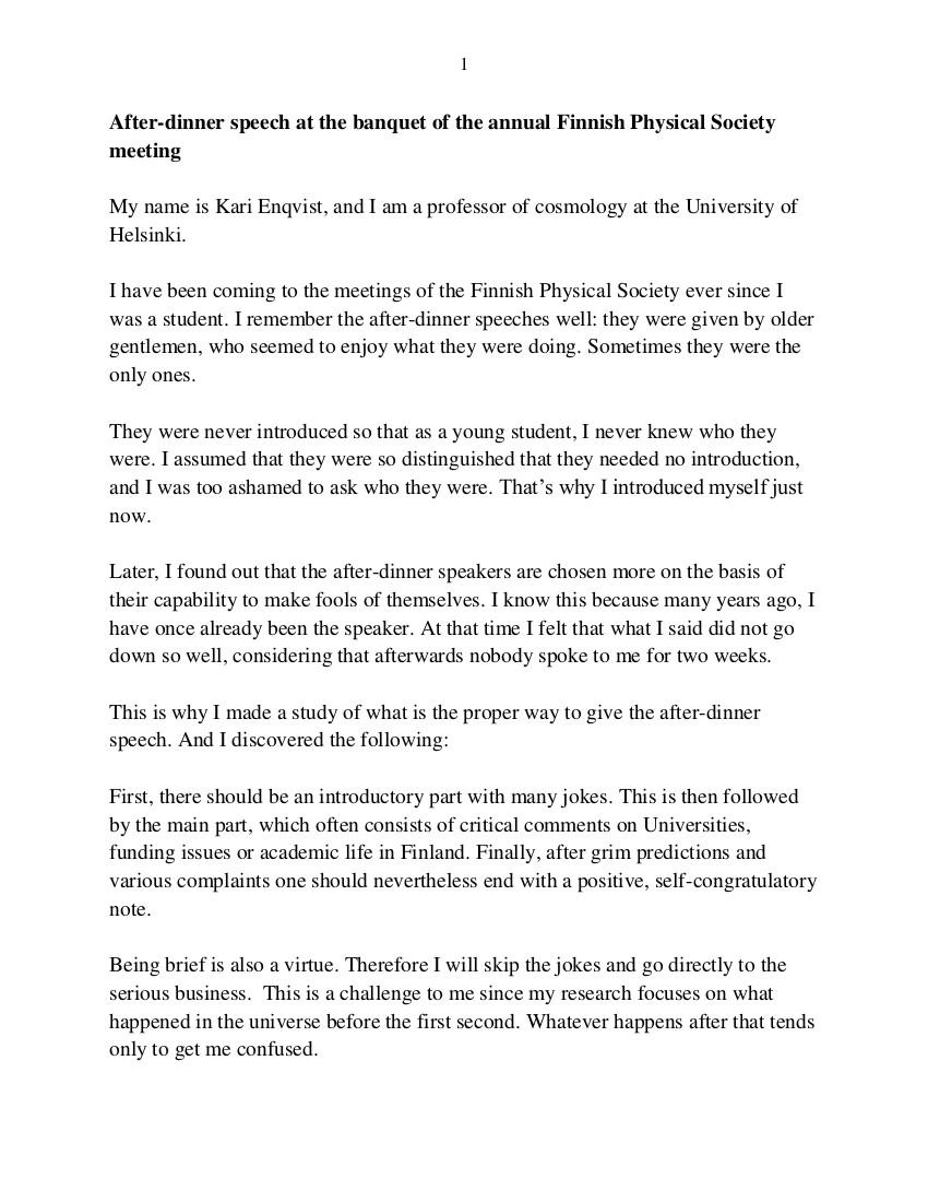 After Dinner Speech  9 After Dinner Speech Examples & Samples in PDF