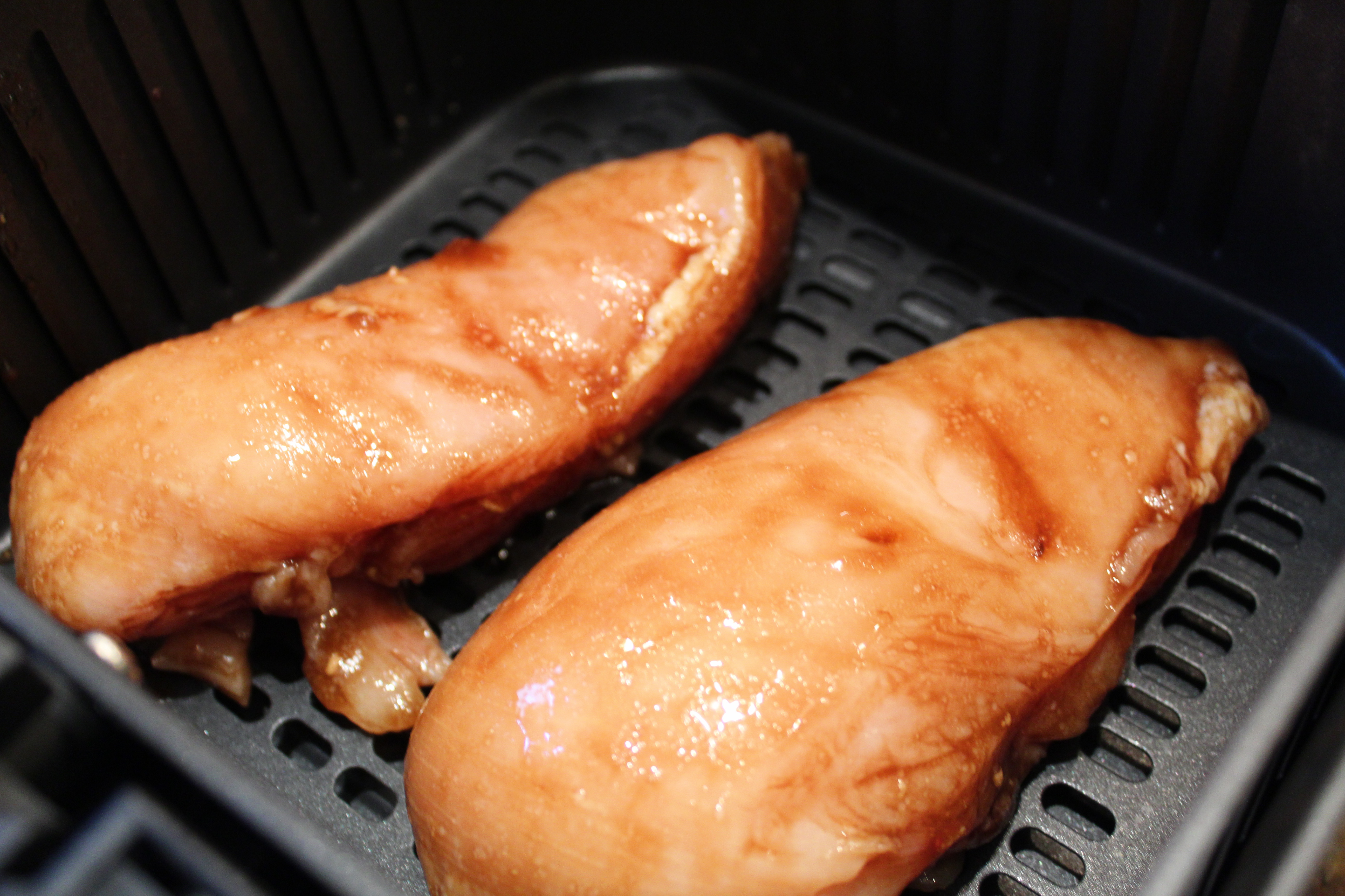 Air Fried Chicken Breast  Air Fryer Tangy Barbecue Chicken