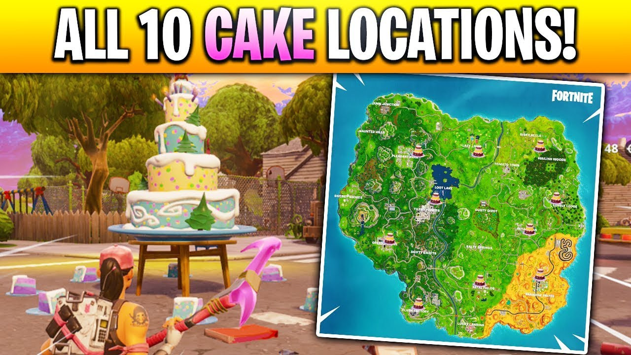"""All Birthday Cake Locations  """"Dance in Front of different Birthday Cakes"""" LOCATIONS in"""