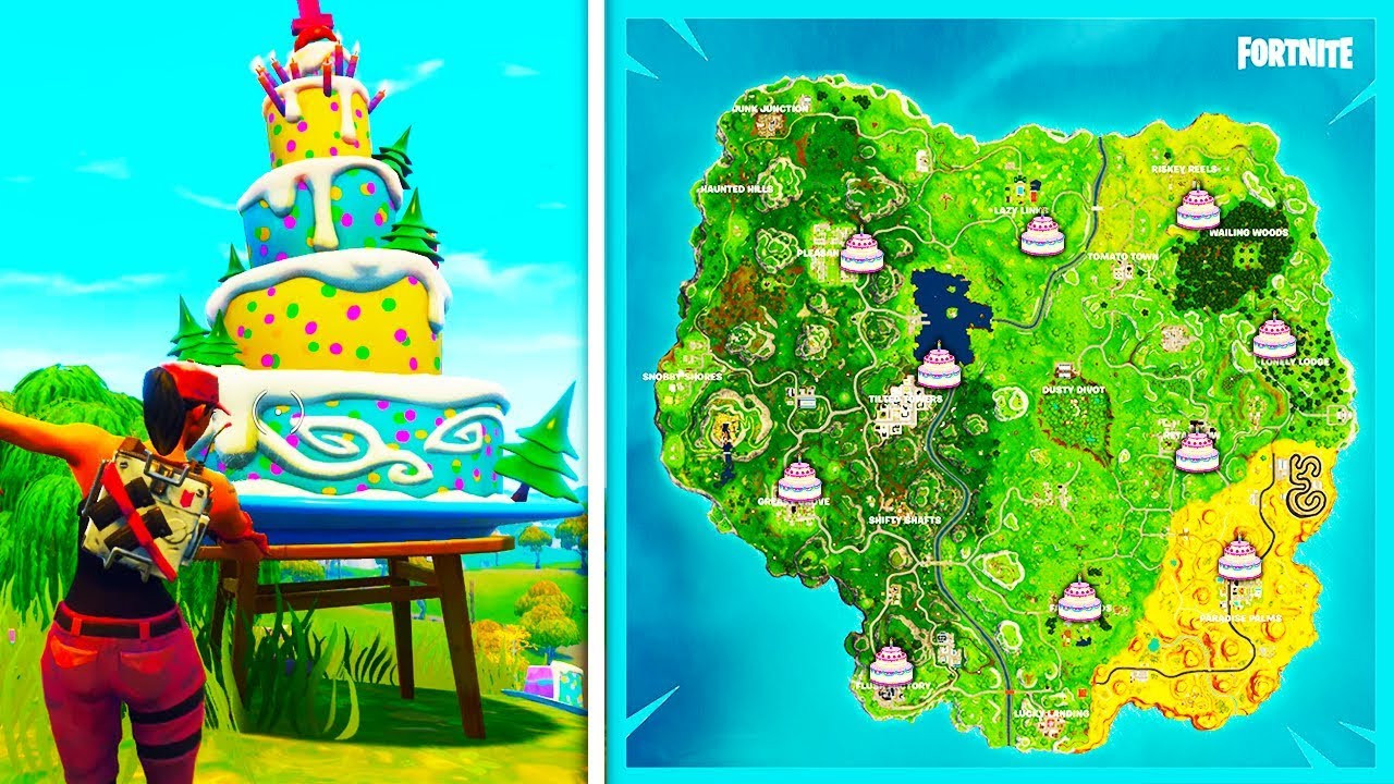 """All Birthday Cake Locations  """"Dance in Front of Differnet Birthday Cakes"""" ALL LOCATIONS"""