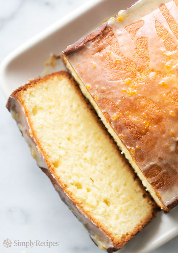 Almond Pound Cake  Almond Pound Cake with Orange Glaze Recipe