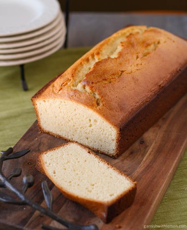 Almond Pound Cake  Almond Pound Cake Garnish with Lemon