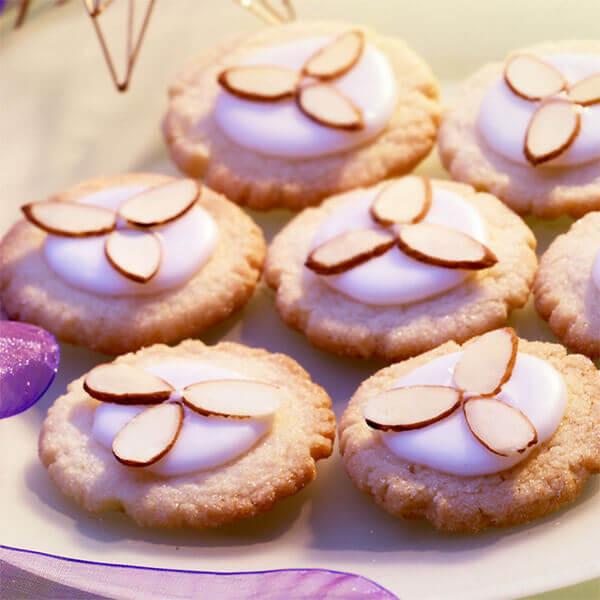 Almond Sugar Cookies  glazed almond cookies