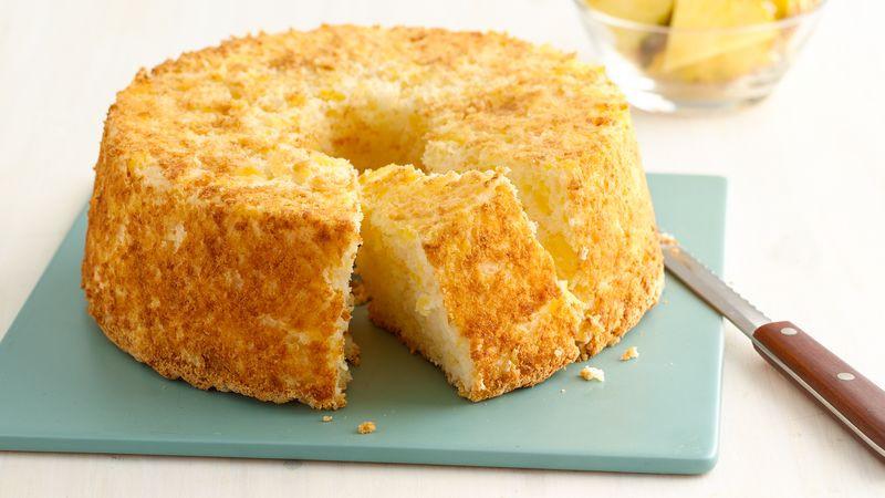 Angel Food Cake And Pineapples  Two Ingre nt Pineapple Angel Food Cake Recipe