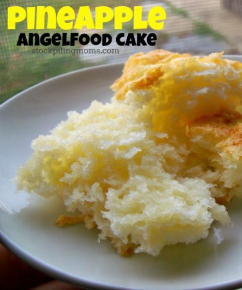 Angel Food Cake And Pineapples  Pineapple Angel Food Cake