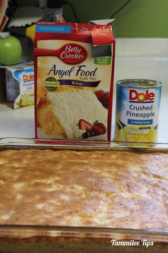 Angel Food Cake And Pineapples  Pineapple Angel Food Cake Recipe