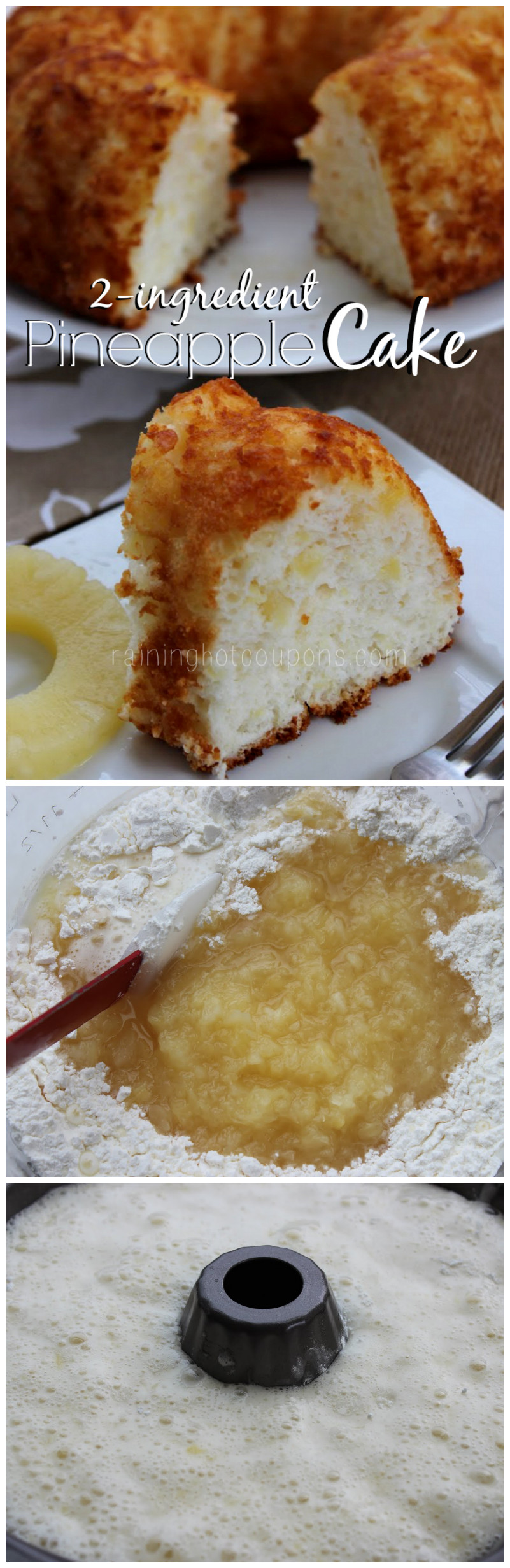 Angel Food Cake And Pineapples  Pineapple Cake ly 2 Ingre nts