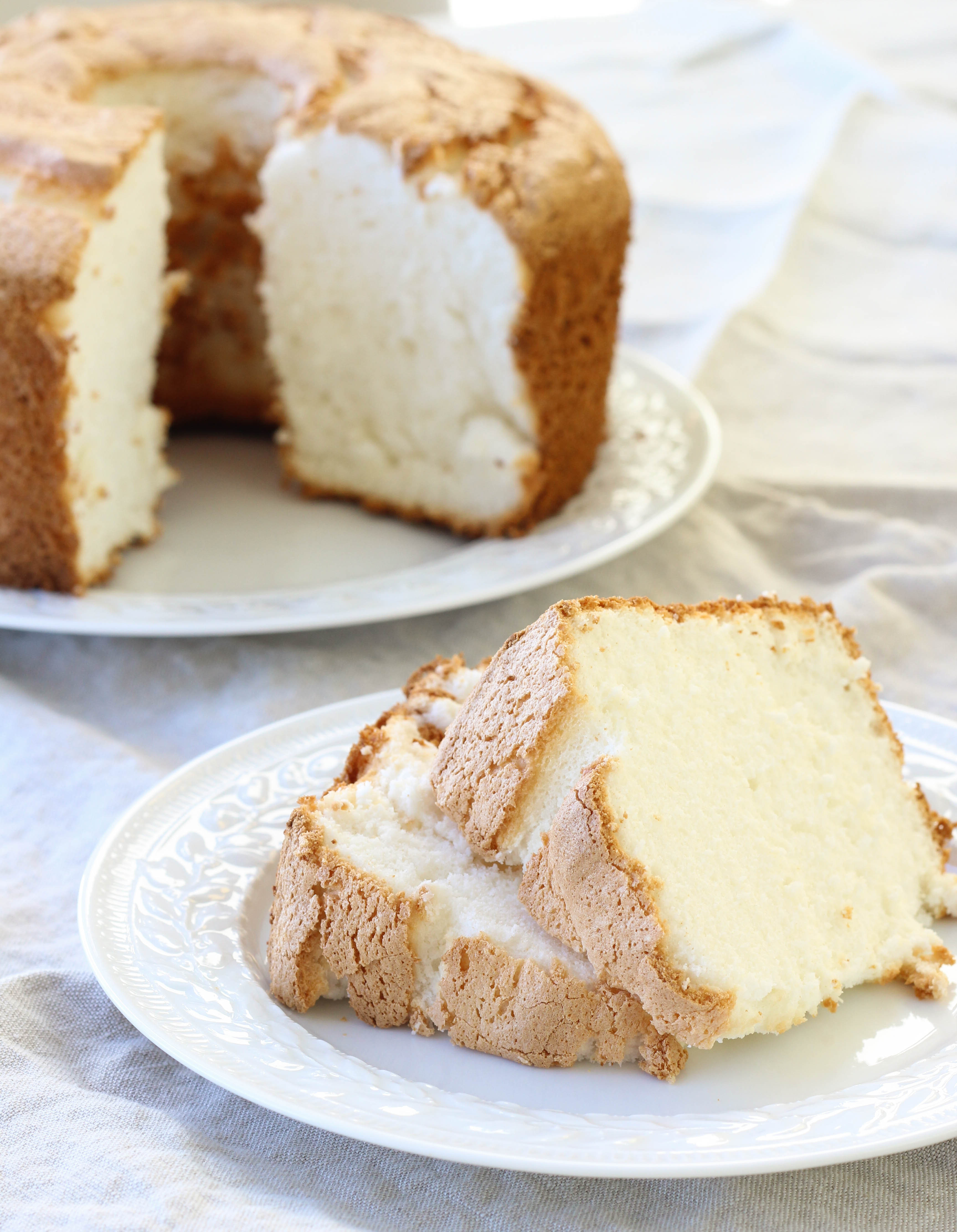Angel Food Cake Recipes  Angel Food Cake with Blueberry Sauce American Heritage