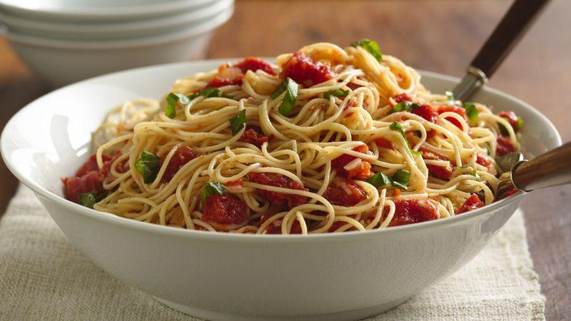 Angel Hair Pasta Salad  angel hair pasta salad with pepperoni