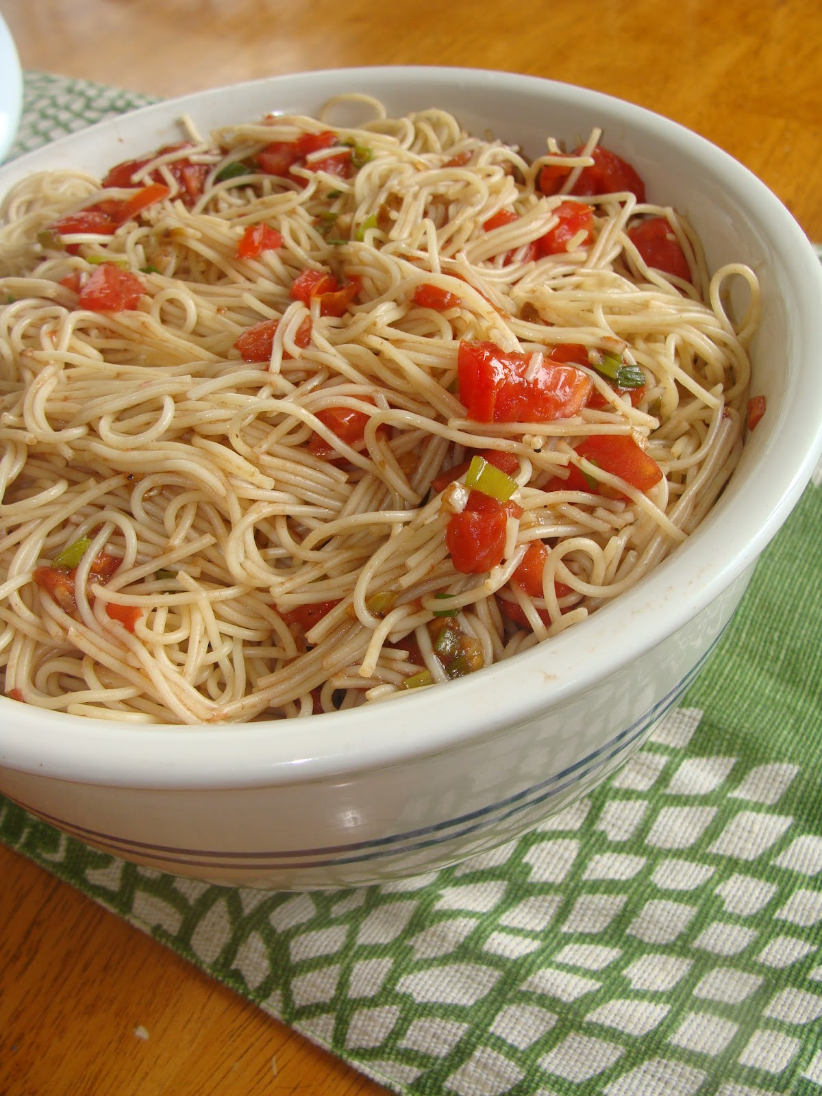 Angel Hair Pasta Salad  Just Cooking Angel Hair Pasta Salad with Balsamic Tomatoes