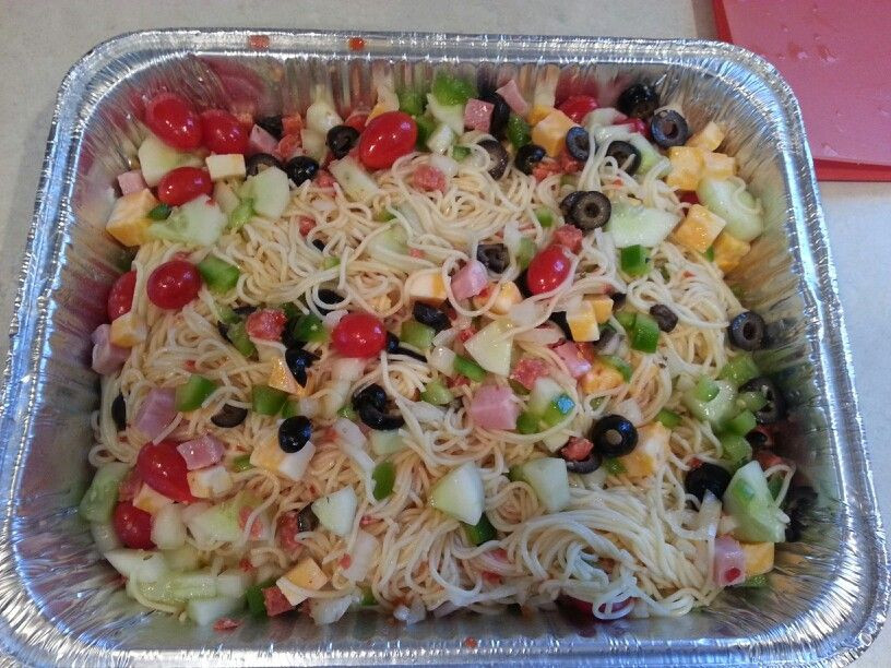 Angel Hair Pasta Salad  angel hair pasta salad supreme
