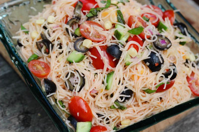 Angel Hair Pasta Salad  Angel Hair Pasta Salad – Soul Full Sisters