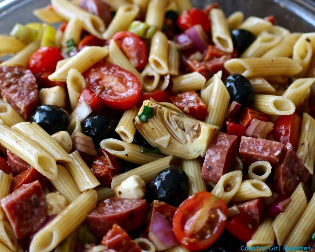 Antipasto Pasta Salad  Easy Antipasto Pasta Salad and the Big Game My Hot