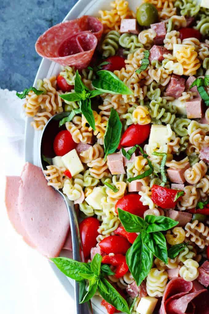 Antipasto Pasta Salad  Antipasto Pasta Salad with Salami and Bologna