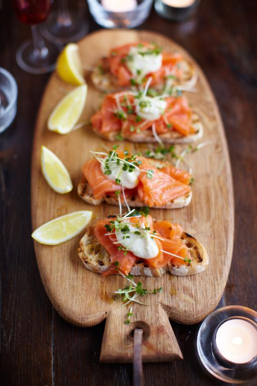 Appetizers For Dinner  Smoked Salmon on Toast Fish Recipes