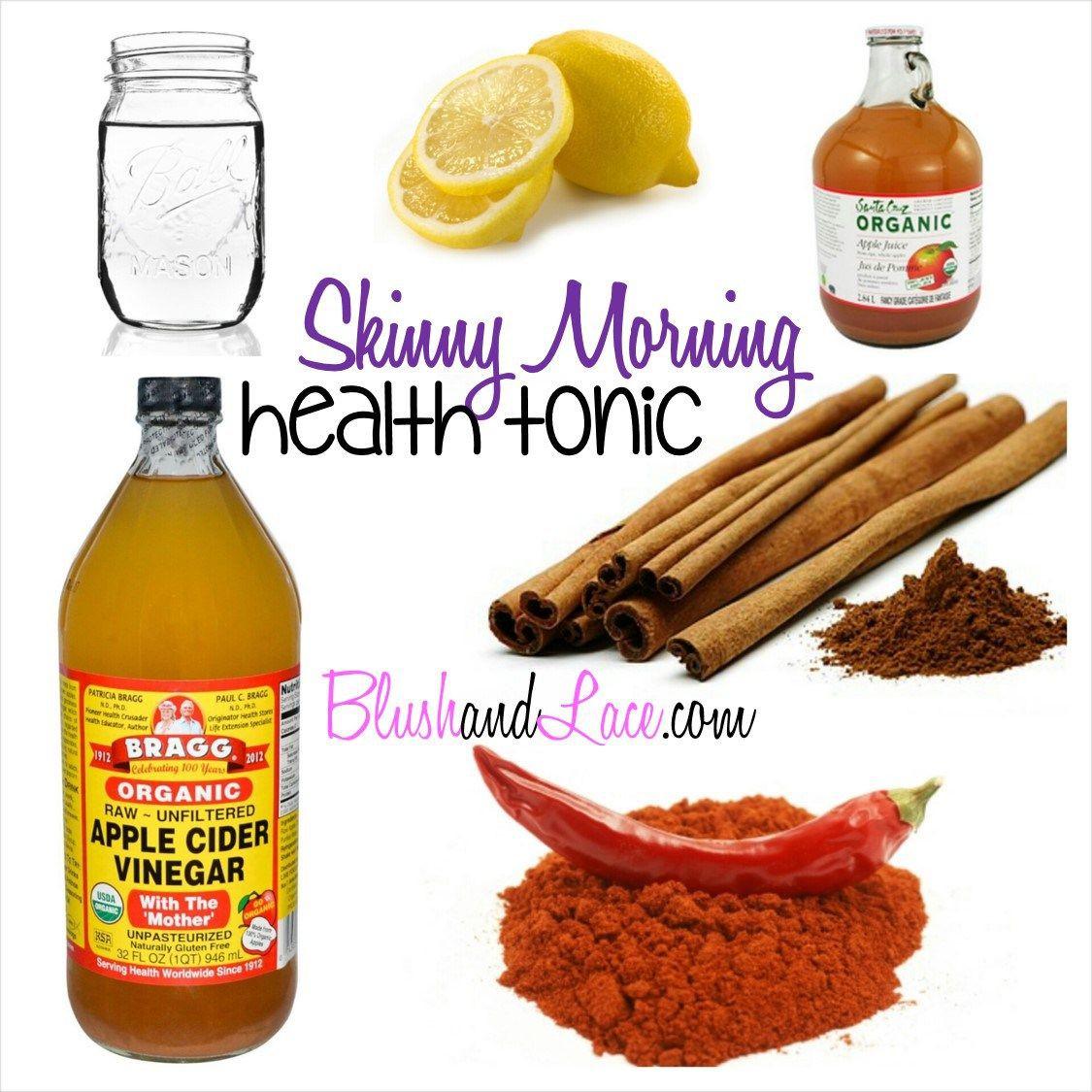 Apple Cider Vinegar Weight Loss Drink  Skinny Morning Health Tonic drink apple cider vinegar