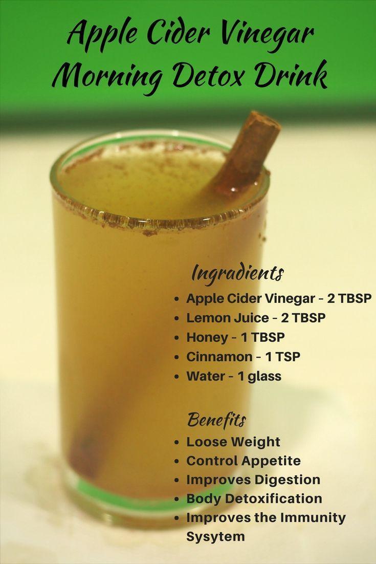 Apple Cider Vinegar Weight Loss Drink  Apple Cider Vinegar Morning Detox Drink for Weight Loss
