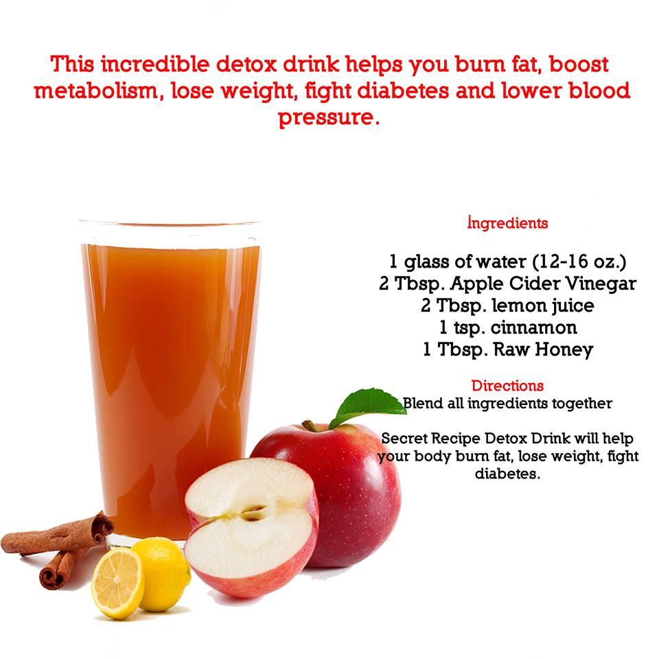 Apple Cider Vinegar Weight Loss Drink  apple cider vinegar recipe for weight loss