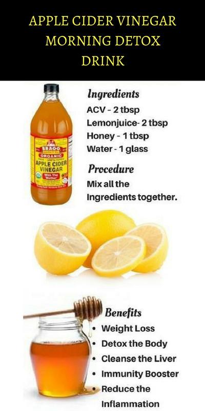 Apple Cider Vinegar Weight Loss Drink  Apple Cider Vinegar Morning Detox Drink KEEP YOU FIT