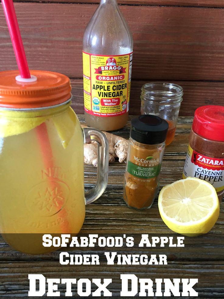 Apple Cider Vinegar Weight Loss Drink  Apple Cider Vinegar and Lemon Detox Drink Recipe