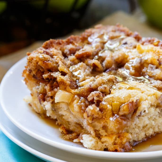 Apple Crisp With Cake Mix  Apple Crisp Coffee Cake Spicy Southern Kitchen