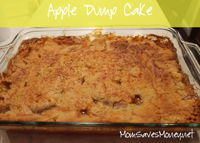 Apple Pie Filling Dump Cake  dump cake with apple pie filling