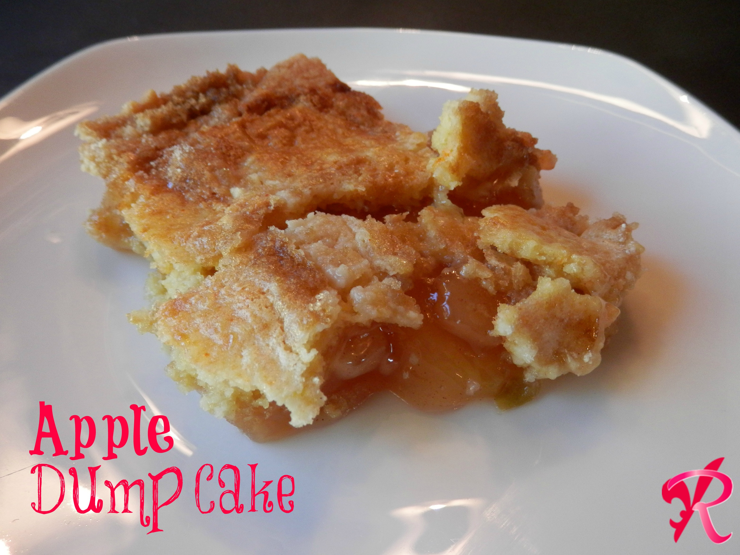 Apple Pie Filling Dump Cake  APPLE DUMP CAKE AND Tim Hortons Can of Hot Chocolate 500g