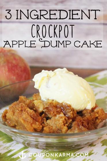 Apple Pie Filling Dump Cake  3 Ingre nt Slow Cooker Apple Dump Cake
